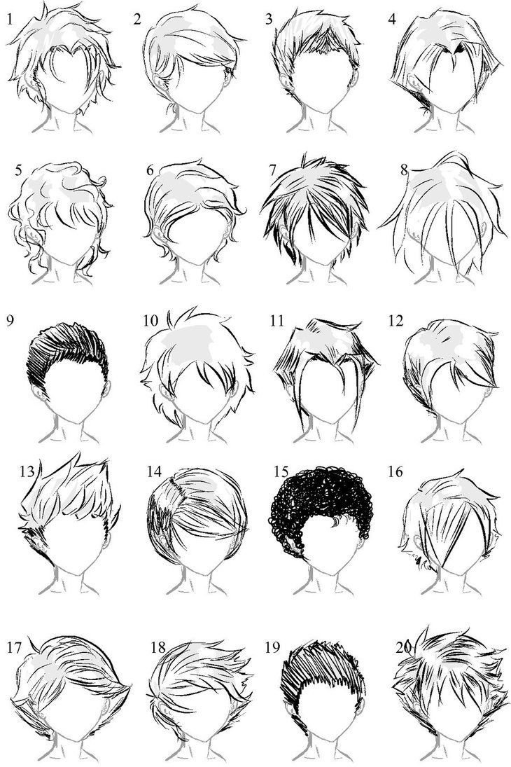 The Best Anime Male Hair … Drawing Tips How T… Pictures