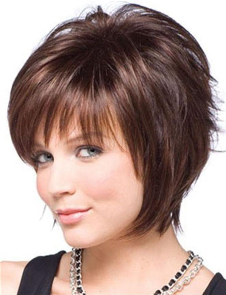 The Best Short Haircuts For Round Faces And Thick Hair Globezhair Fashion Cute Hairstyles For Short Pictures