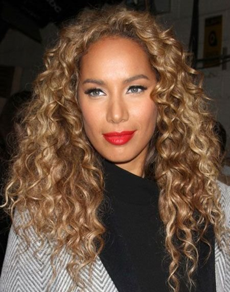 The Best Leona Lewis' Long Corkscrew Middle Part Hairstyle Long Pictures