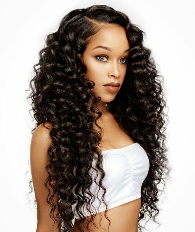 The Best 8A Mink V*Rg*N Hair 3 Bundles With Closure Deal Brazilian Hair Deep Wave Deep Wave Hairstyle Pictures