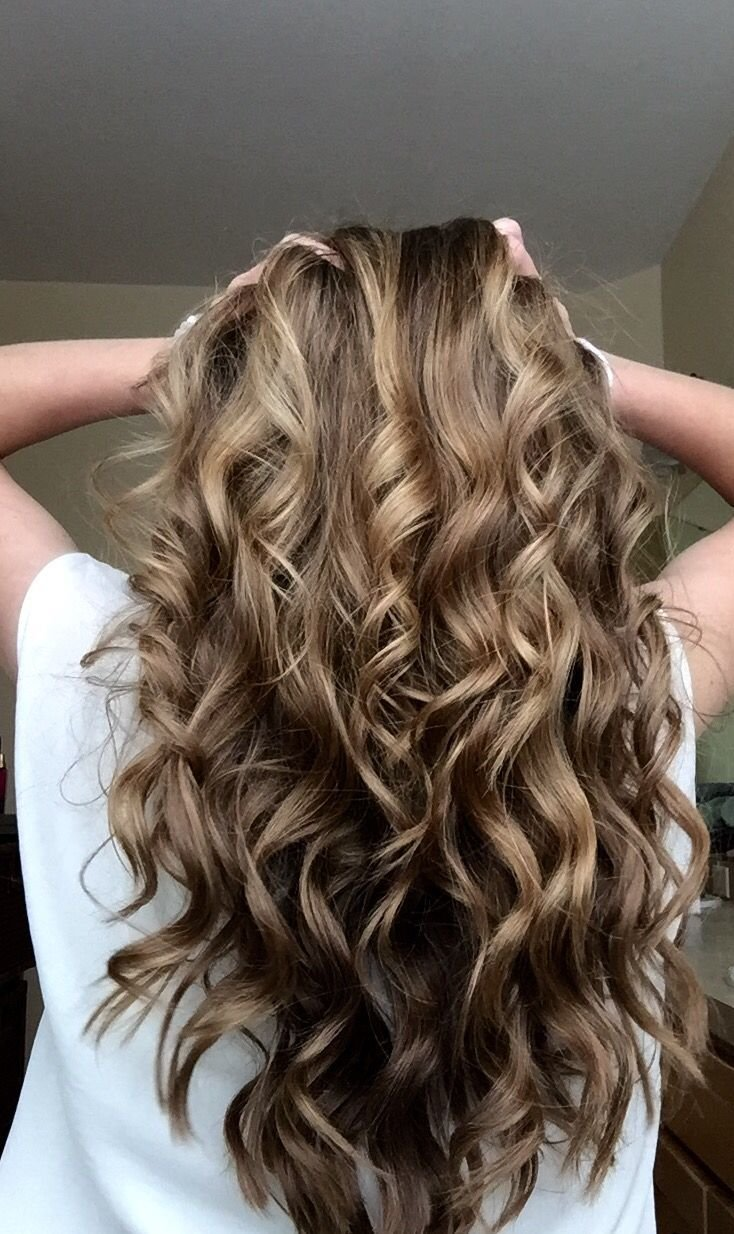 The Best Curled Hair With A Wand H A I R Curly Hair Styles Pictures