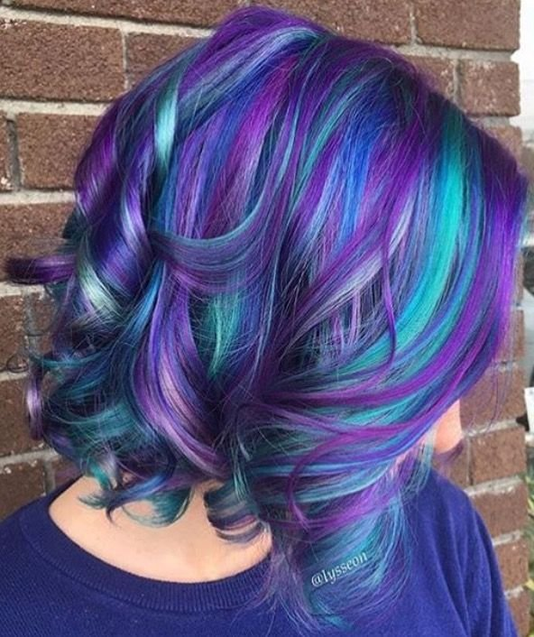 The Best Blue And Purple Multicolored Hair Hair Ideas In 2019 Hair Styles Teal Hair Dyed Hair Pictures
