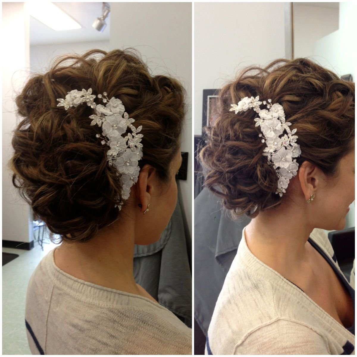The Best Wedding Hair Updo Hair Accessories Loose Curls Pictures