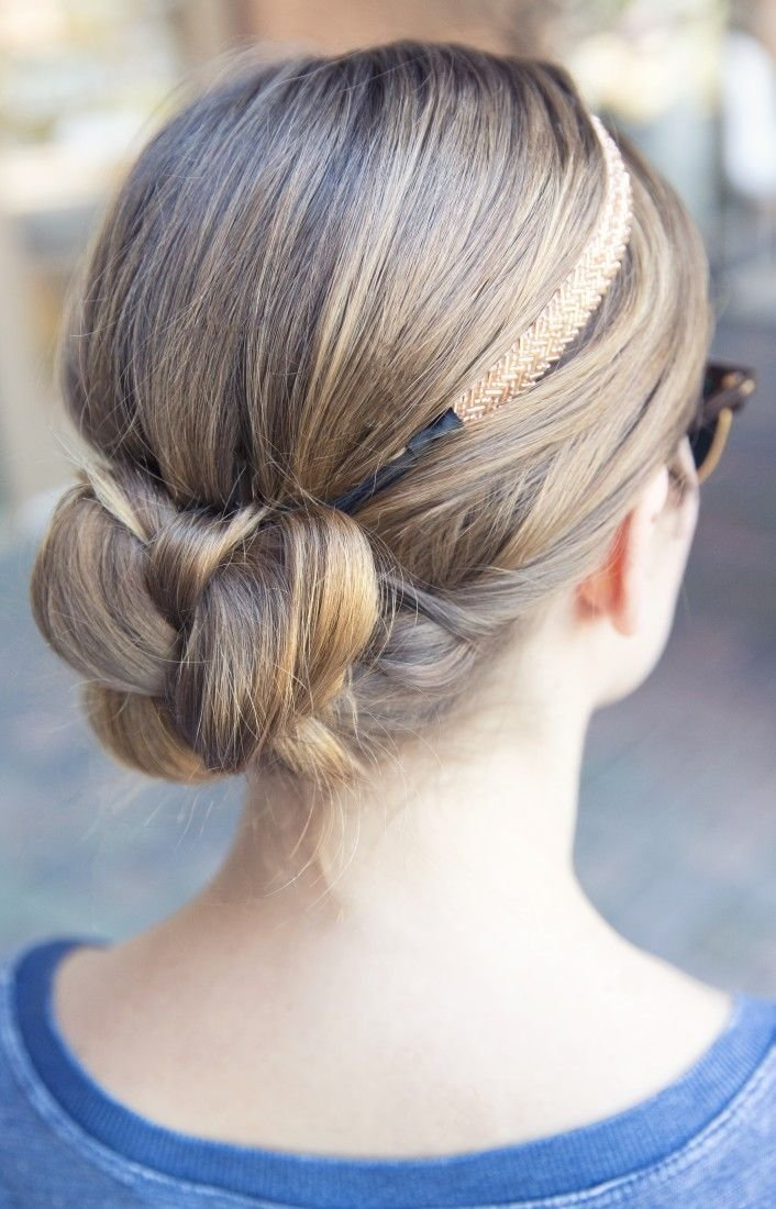 The Best Quick Braid Bun With A Simple Headband A Very Simple Yet Pictures