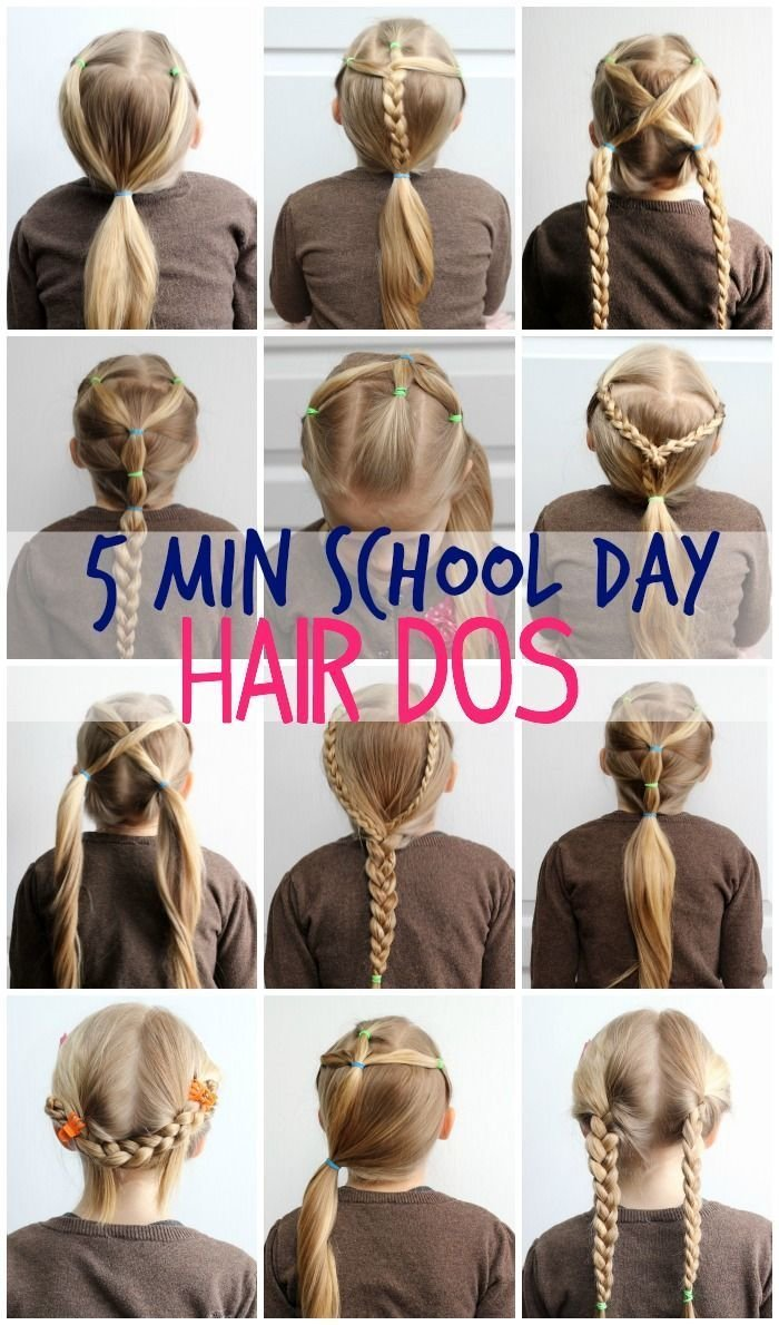 The Best 5 Minute Hairstyles For School Take This Make That Pictures