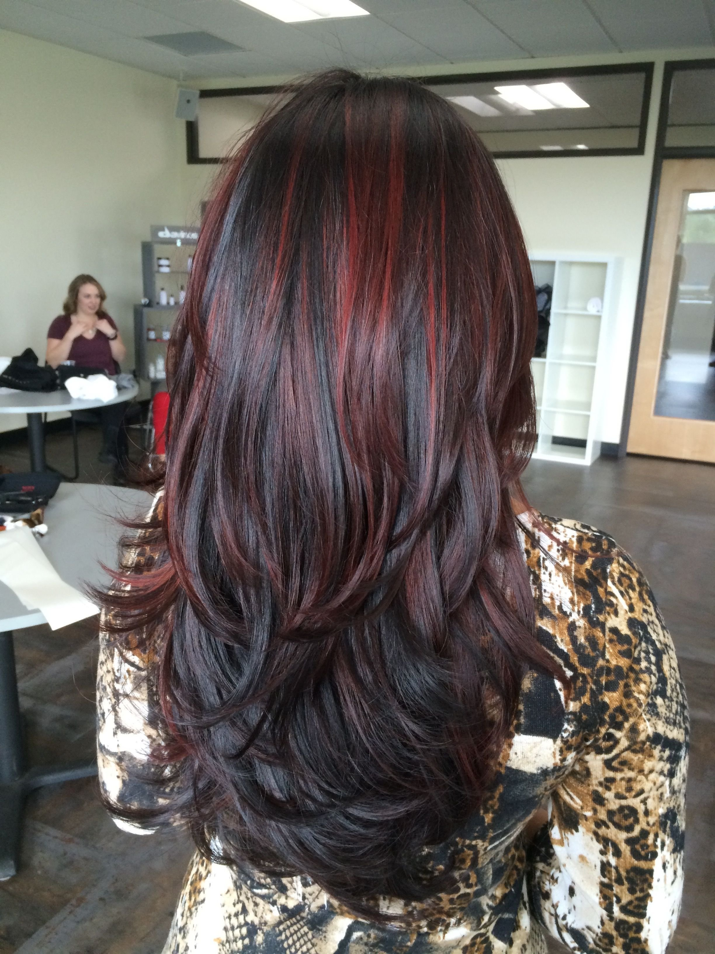 The Best Balayage Red Highlights Dark Hair Long Hair Hair Pictures