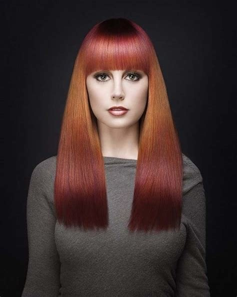The Best Hairstyles With Thick Bangs Hairstyle Trends Red Hairstyle Pictures