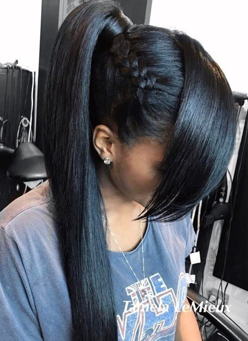 The Best 30 Classy Black Ponytail Hairstyles Pictures