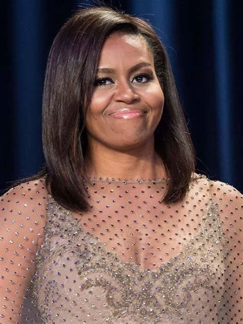 The Best American Icon Michelle Obama's Hairstyles 2016 Hairstylesco Pictures