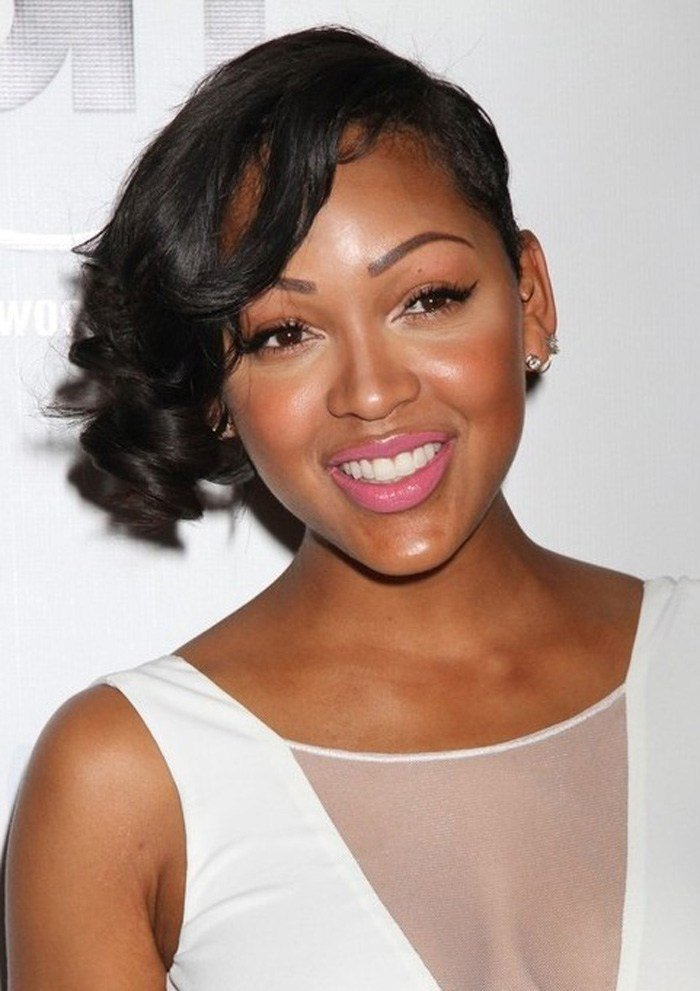 The Best The African American Short Hairstyles For Round Faces Pictures