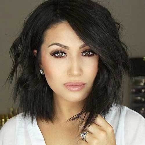 The Best 18 Fresh Layered Short Hairstyles For Round Faces Crazyforus Pictures