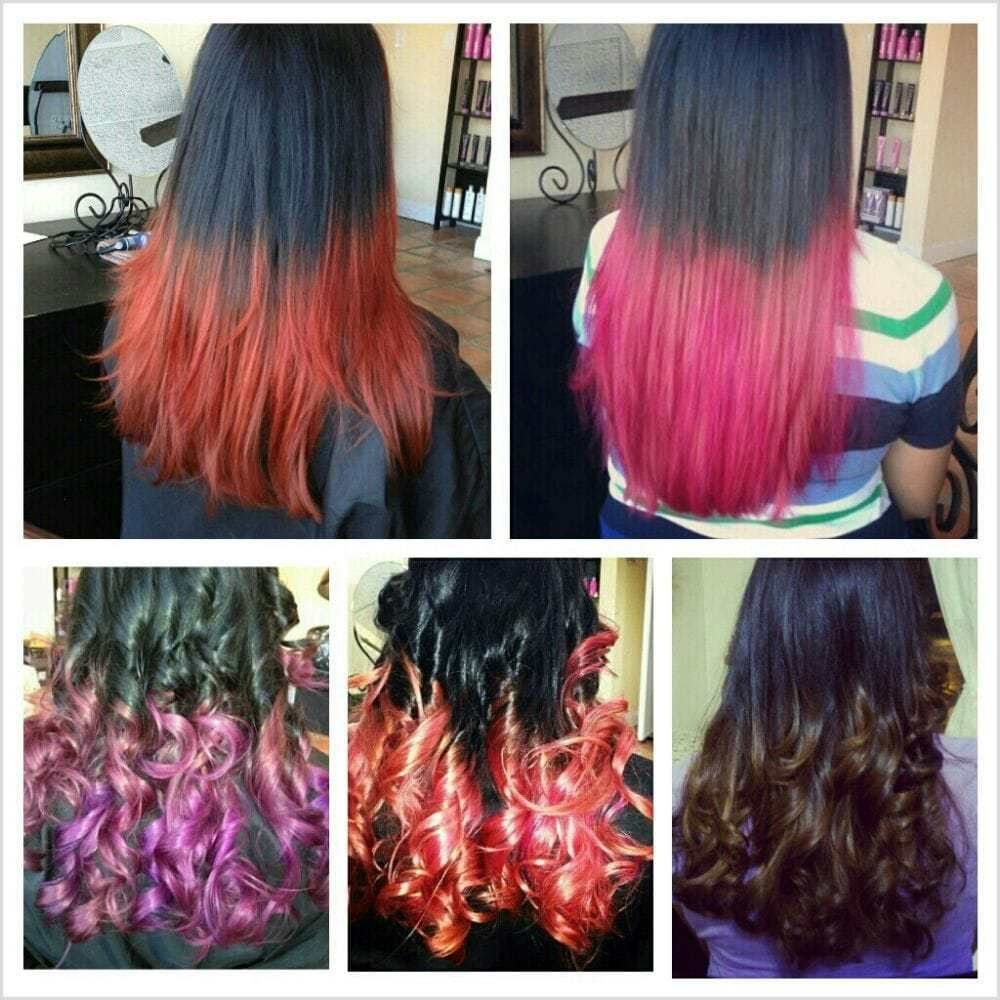 The Best Different Hair Color Ombre And Hair Dip Dye Yelp Pictures