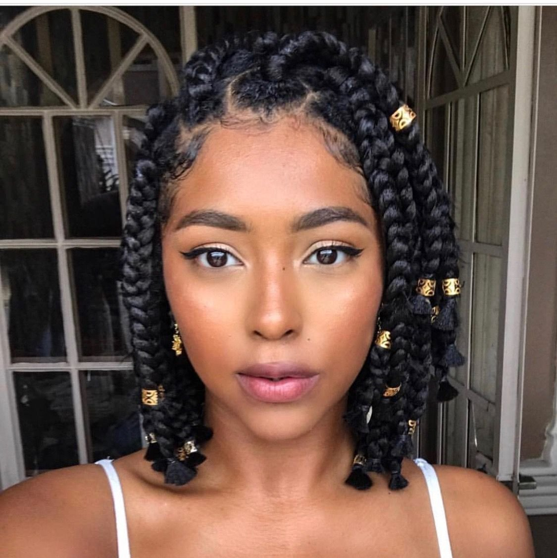 The Best These 16 Short Fulani Braids With Beads Are Giving Us Life In 2019 Supermelanin Natural Hair Pictures