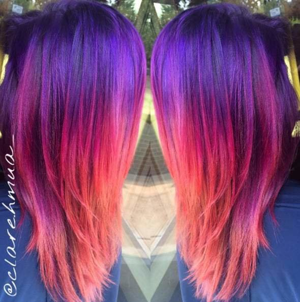 The Best Sunset Hair Color Trend Popsugar Beauty Photo 4 Pictures
