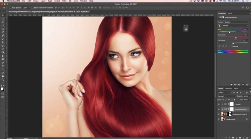 The Best How To Change Hair Color In Photoshop Tutorial Photoshopcafe Pictures