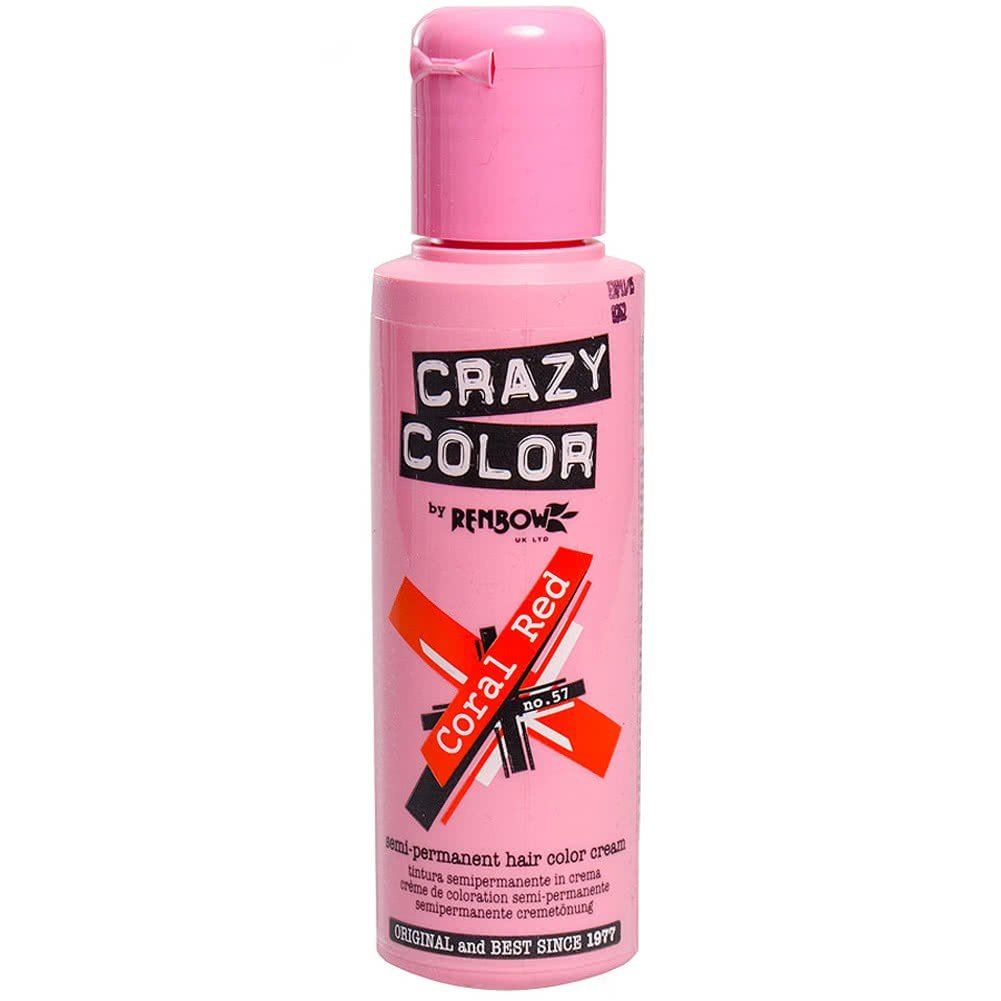The Best Crazy Color Semi Permanent Coral Red Hair Dye 100Ml Hair Pictures