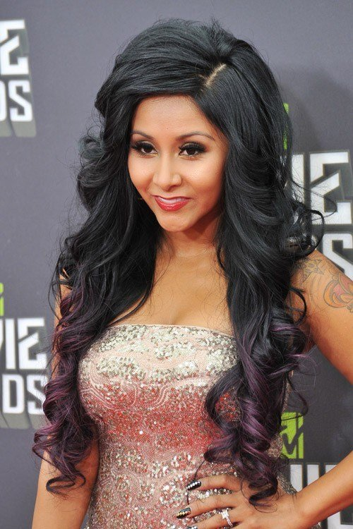 The Best Snooki Nicole Polizzi Wavy Black Barrel Curls Pictures