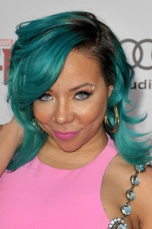 The Best Tameka Tiny Cottle Harris Straight Blue Choppy Layers Pictures