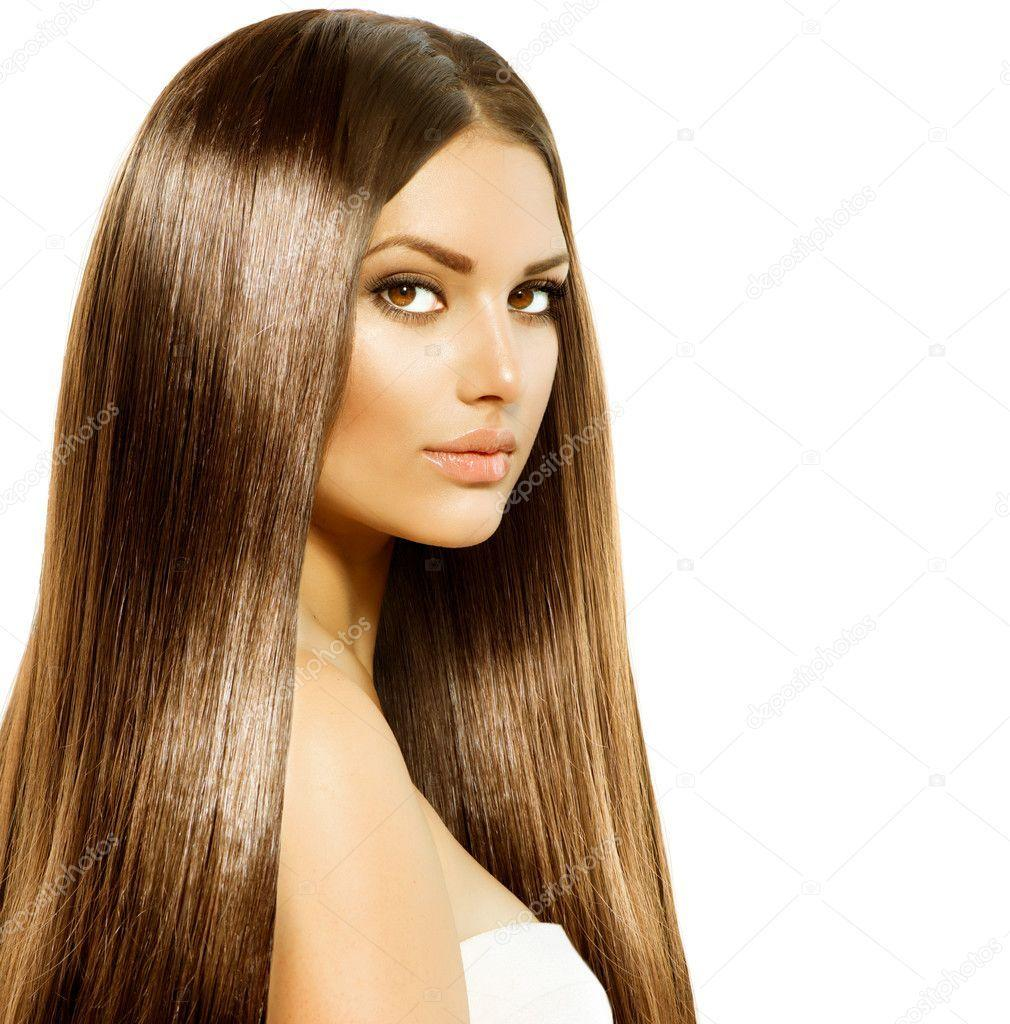 The Best Beauty Woman With Long Healthy And Shiny Smooth Brown Hair Pictures
