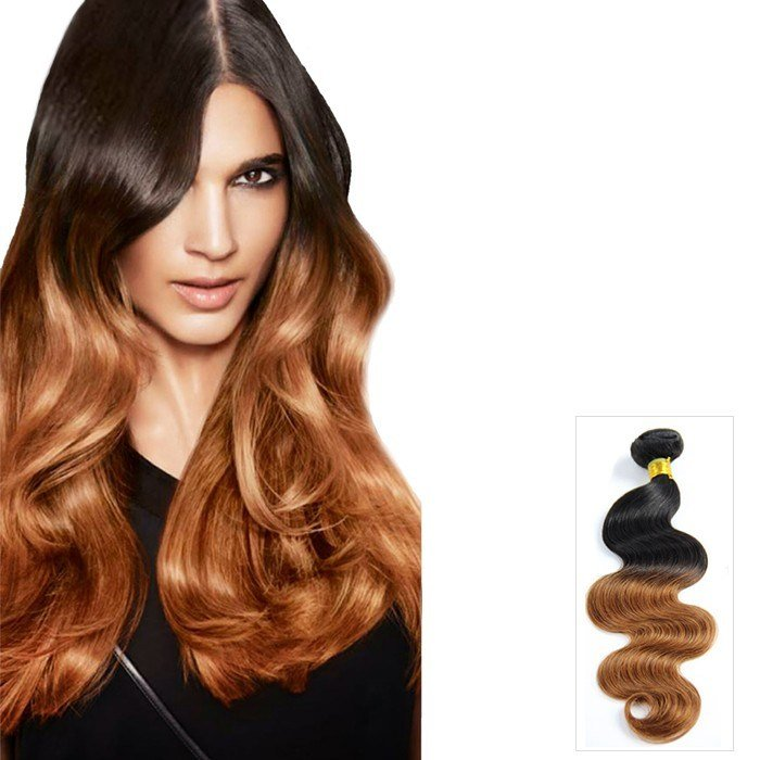 The Best Two Tone Ombre Body Wavy Indian Remy Hair Extensions 1B 30 Pictures