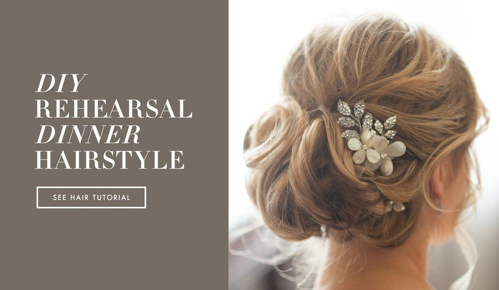 The Best Diy Wedding Day Hairstyles Rehearsal Dinner Knotted Updo Pictures