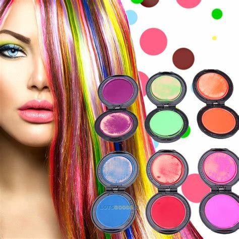 The Best 6Colors Non Toxic Temporary Hair Chalk Soft Dye Powder Pictures