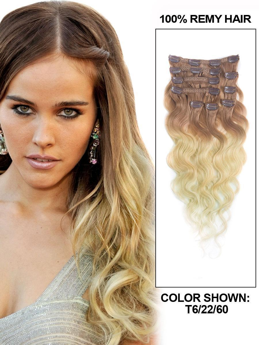 The Best 26 Inch Fancy Hree Colors Ombre Clip In Indian Remy Hair Pictures