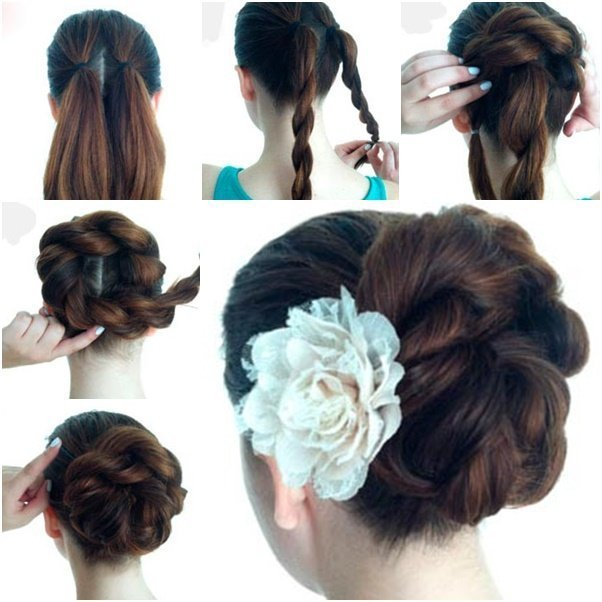 The Best Diy Twist Double Rope Bun Updo Hairstyle Pictures