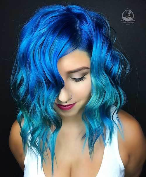The Best Unique And Stylish Short Blue Hair Ideas Short Hair Color Pictures