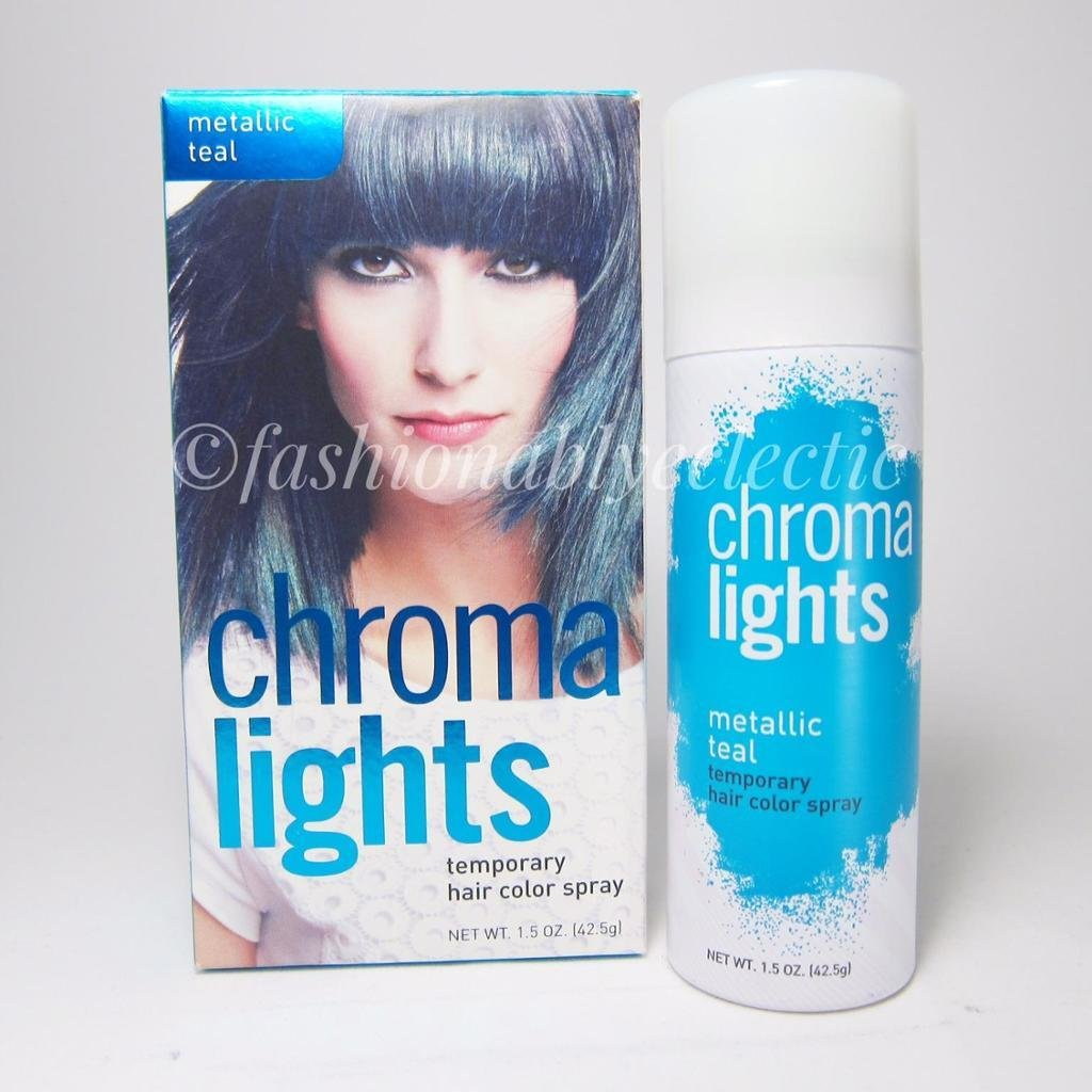 The Best Chroma Lights Temporary Hair Color Spray Metallic Teal Pictures