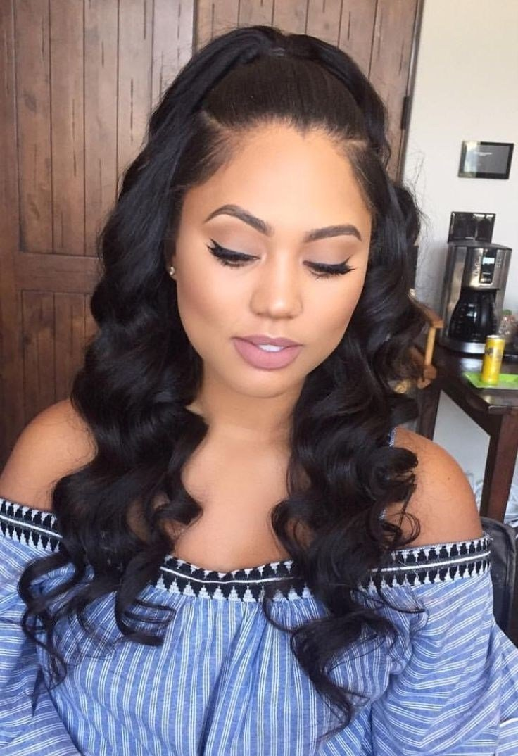 The Best Middle Part Sew In Hairstyles Fade Haircut Pictures