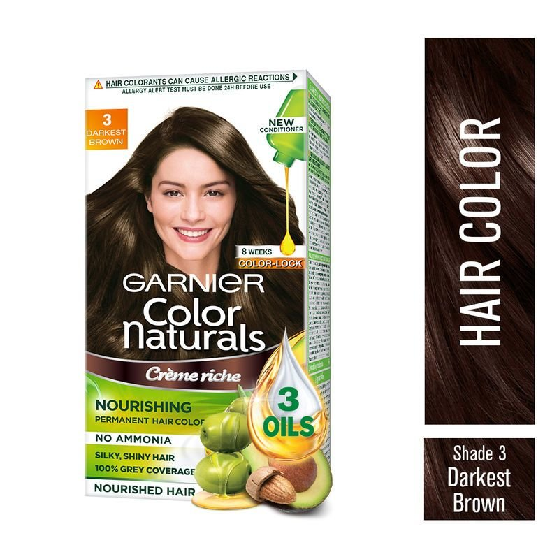 The Best Garnier Color Naturals Creme Hair Color 3 Darkest Brown Pictures