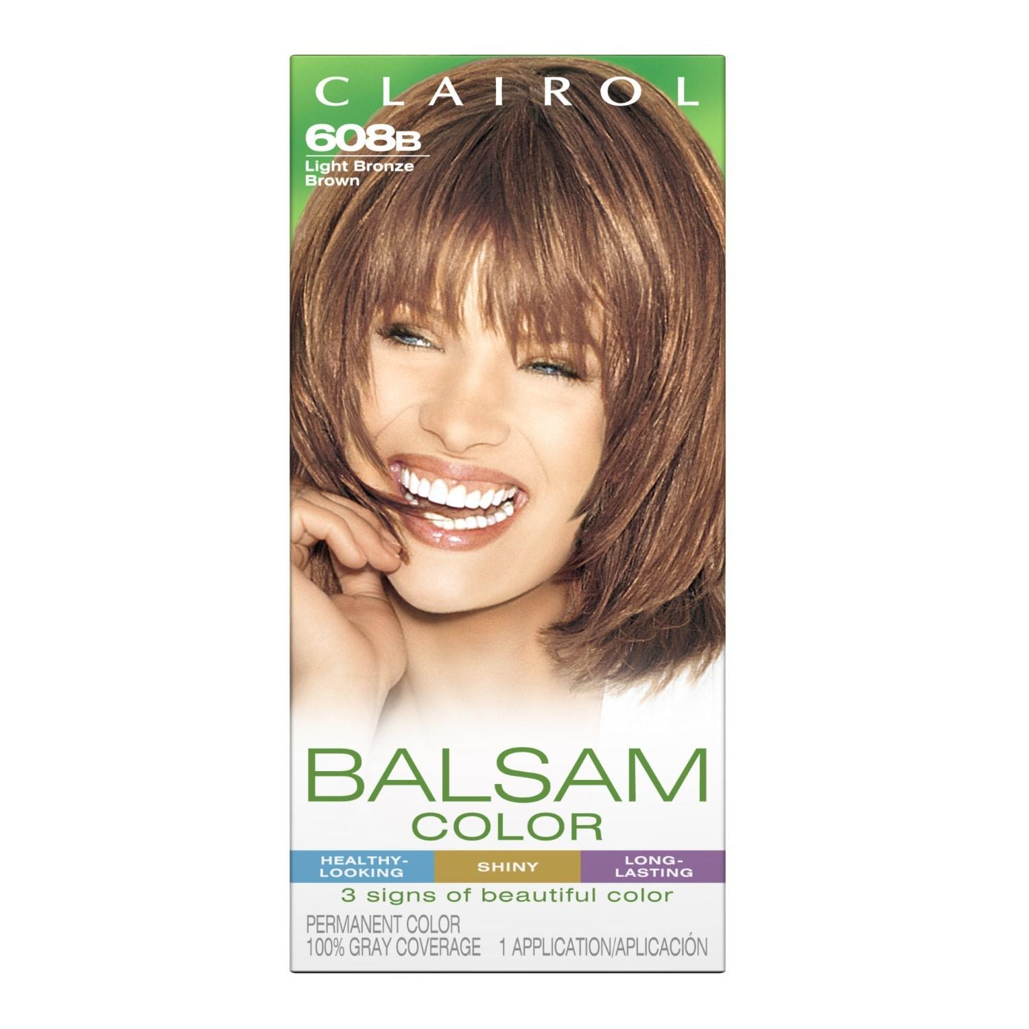The Best Clairol Balsam Hair Color 608B Light Bronze Brown 1 Kit Jet Com Pictures