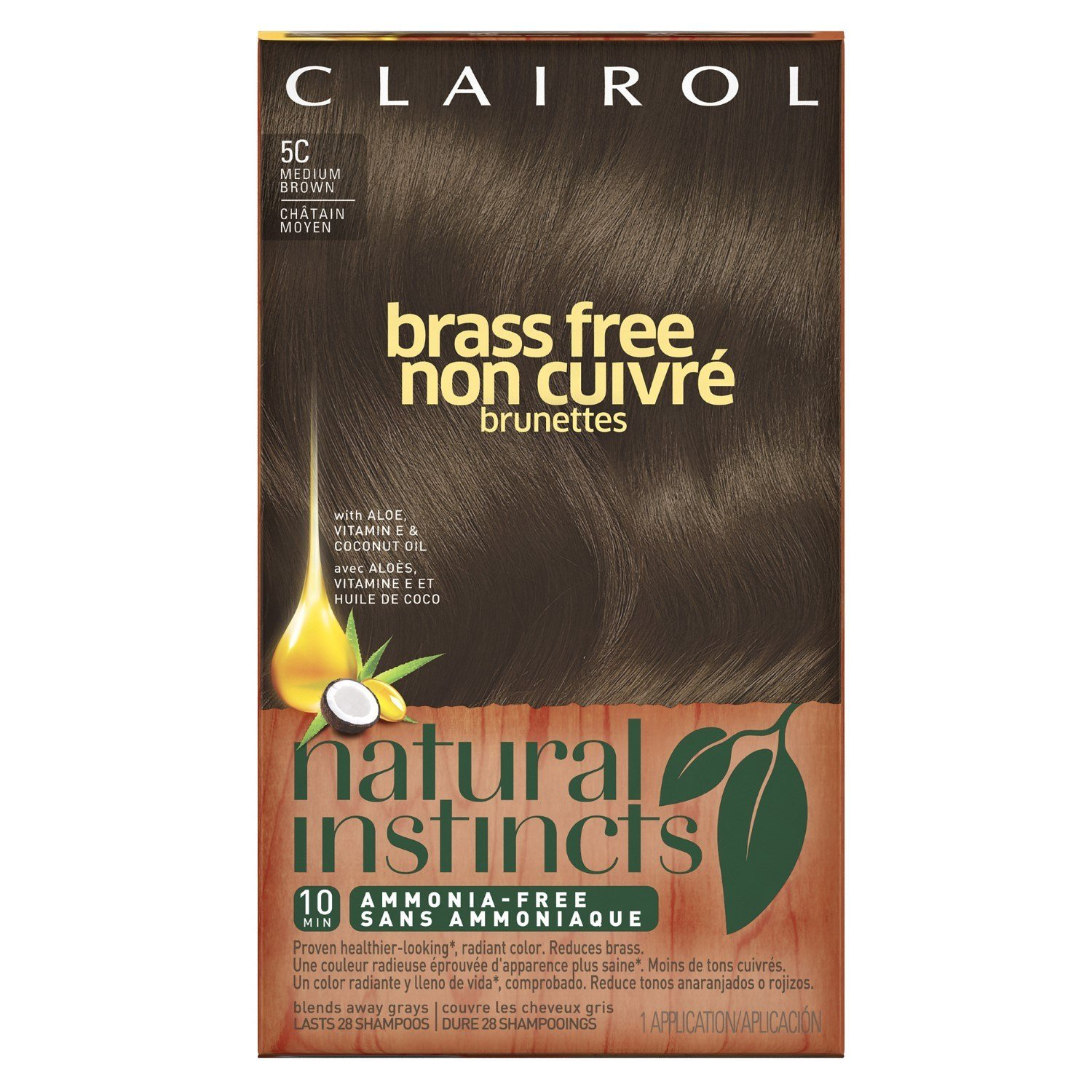 The Best Clairol Natural Instincts Hair Color 5C Brass Free Medium Pictures