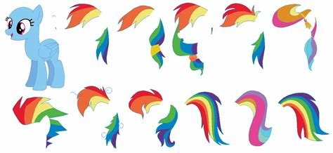 The Best Rainbow Dash Mane Set Base By Selenaede On Deviantart Pictures