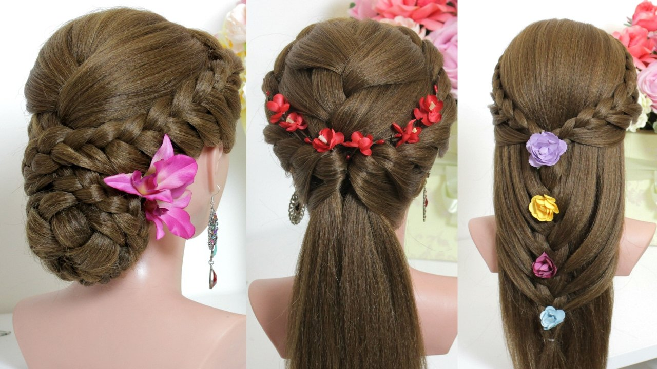 The Best 3 Easy Hairstyles For Long Hair Tutorial Youtube Pictures