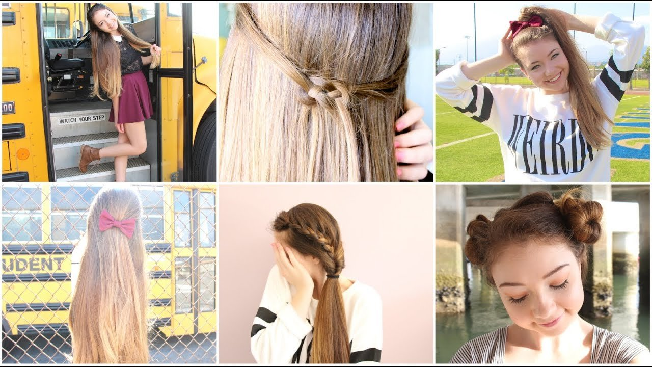 The Best 5 Quick N Easy Back To School Heatless Hairstyles Youtube Pictures