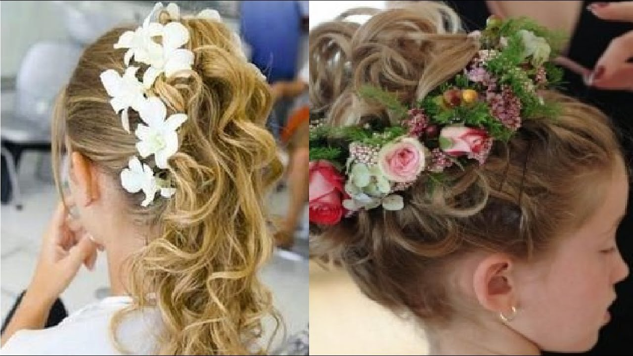 The Best Hair Style For Kids In Wedding Youtube Pictures