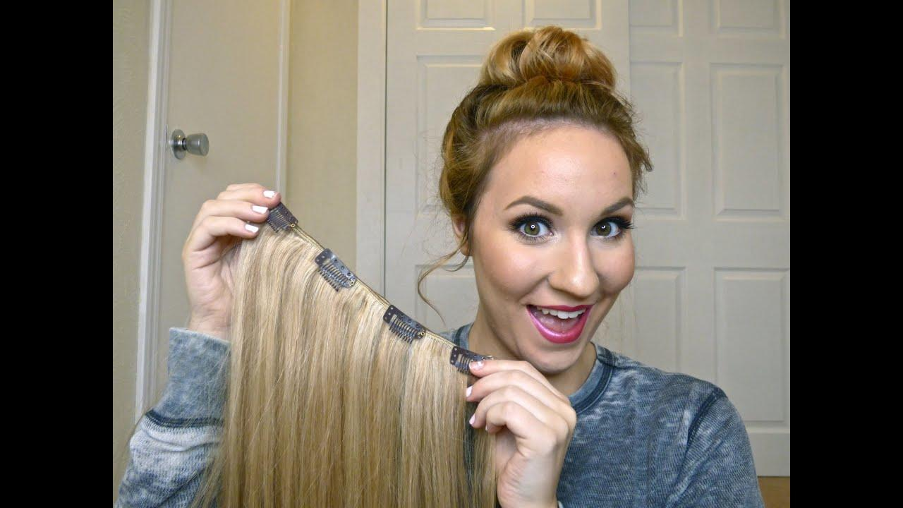 The Best Diy How To Make Your Own Clip In Hair Extensions Youtube Pictures
