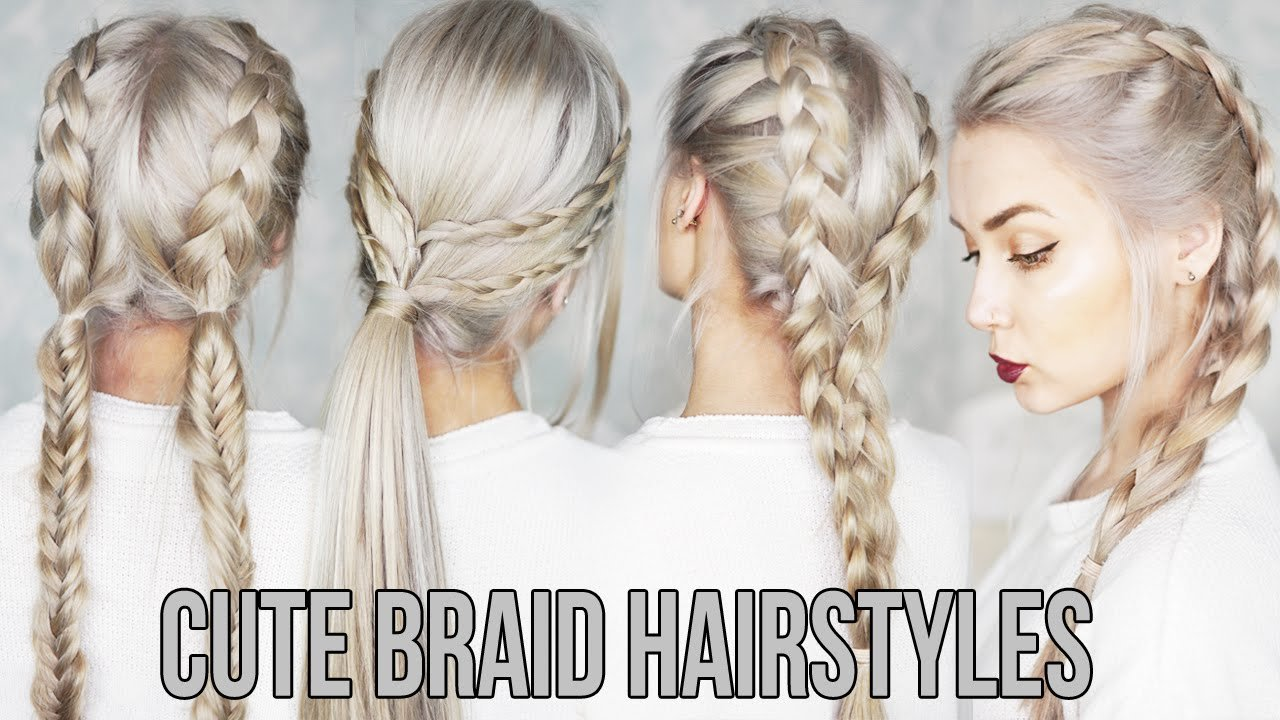 The Best 3 Cute Easy Braid Hairstyles Youtube Pictures