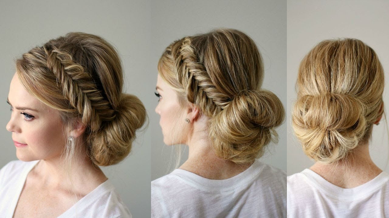 The Best Fishtail Braid Updo Missy Sue Youtube Pictures