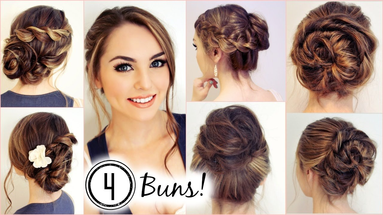 The Best No Heat Hairstyles 4 Unique Messy Buns Jackie Wyers Pictures
