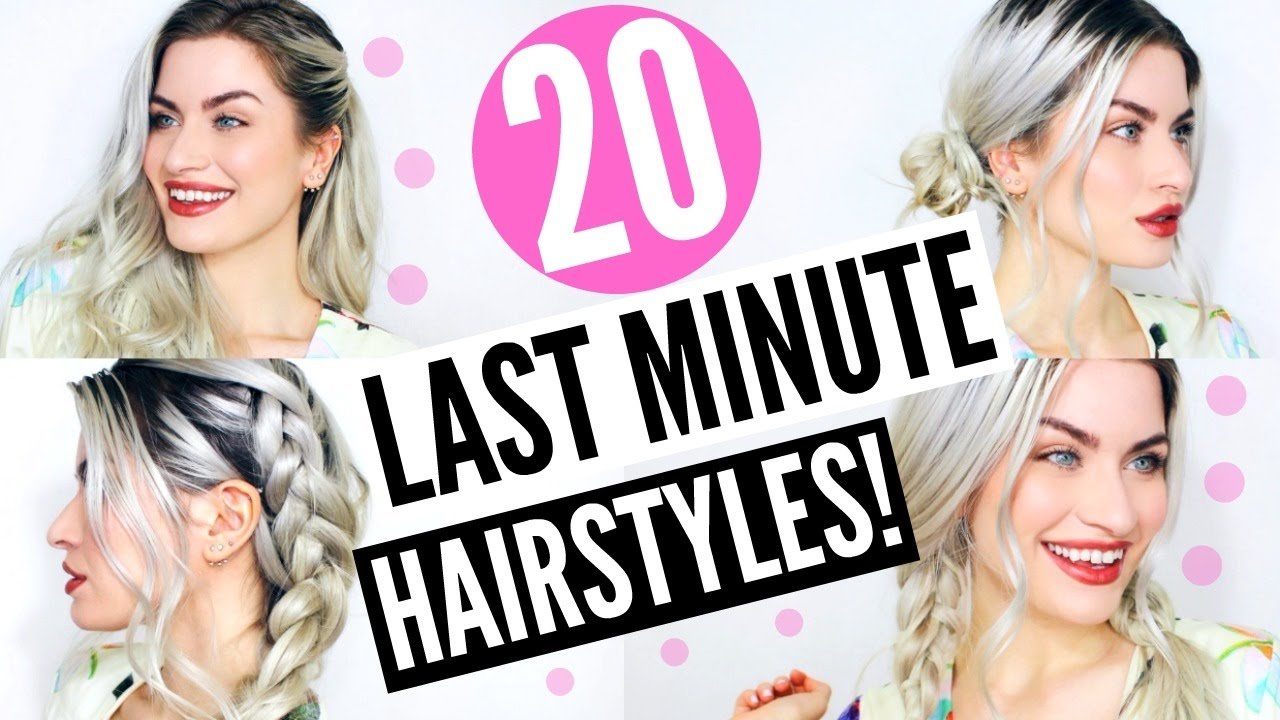 The Best 20 Last Minute Heatless Hairstyles Simple Easy No Heat Pictures