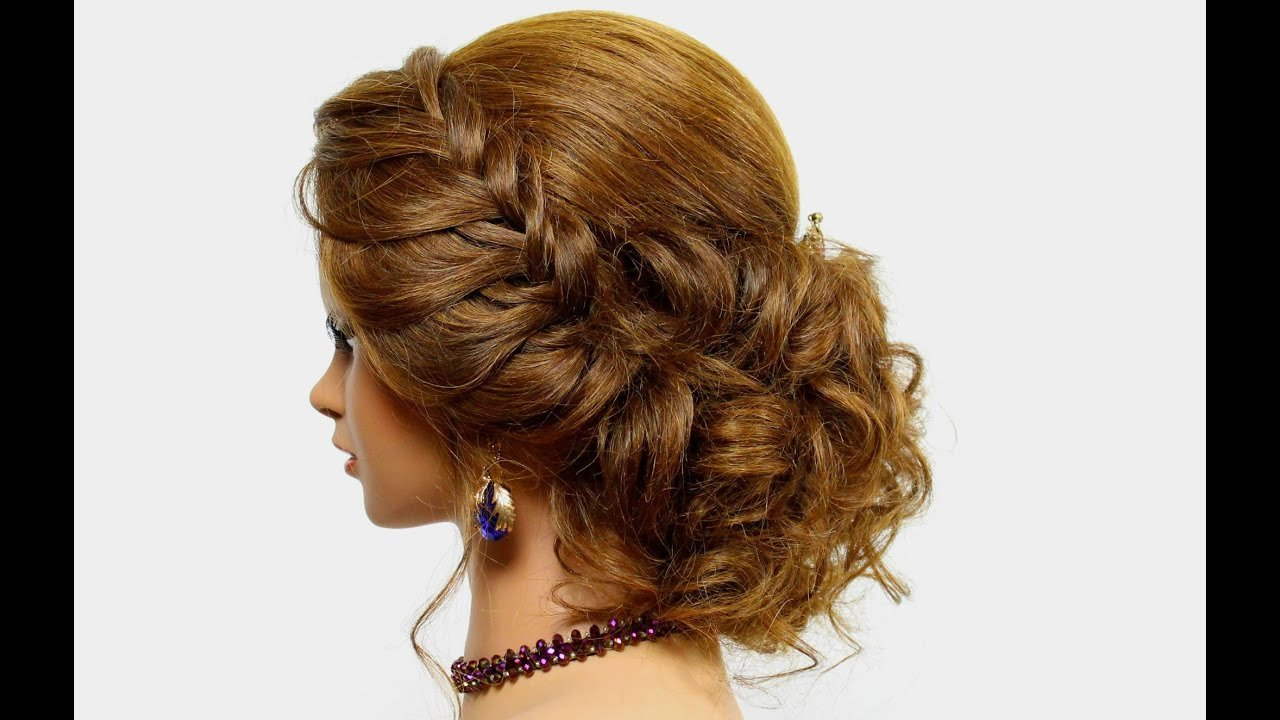 The Best Hairstyle For Long Hair Tutorial Prom Updo With Braid Pictures