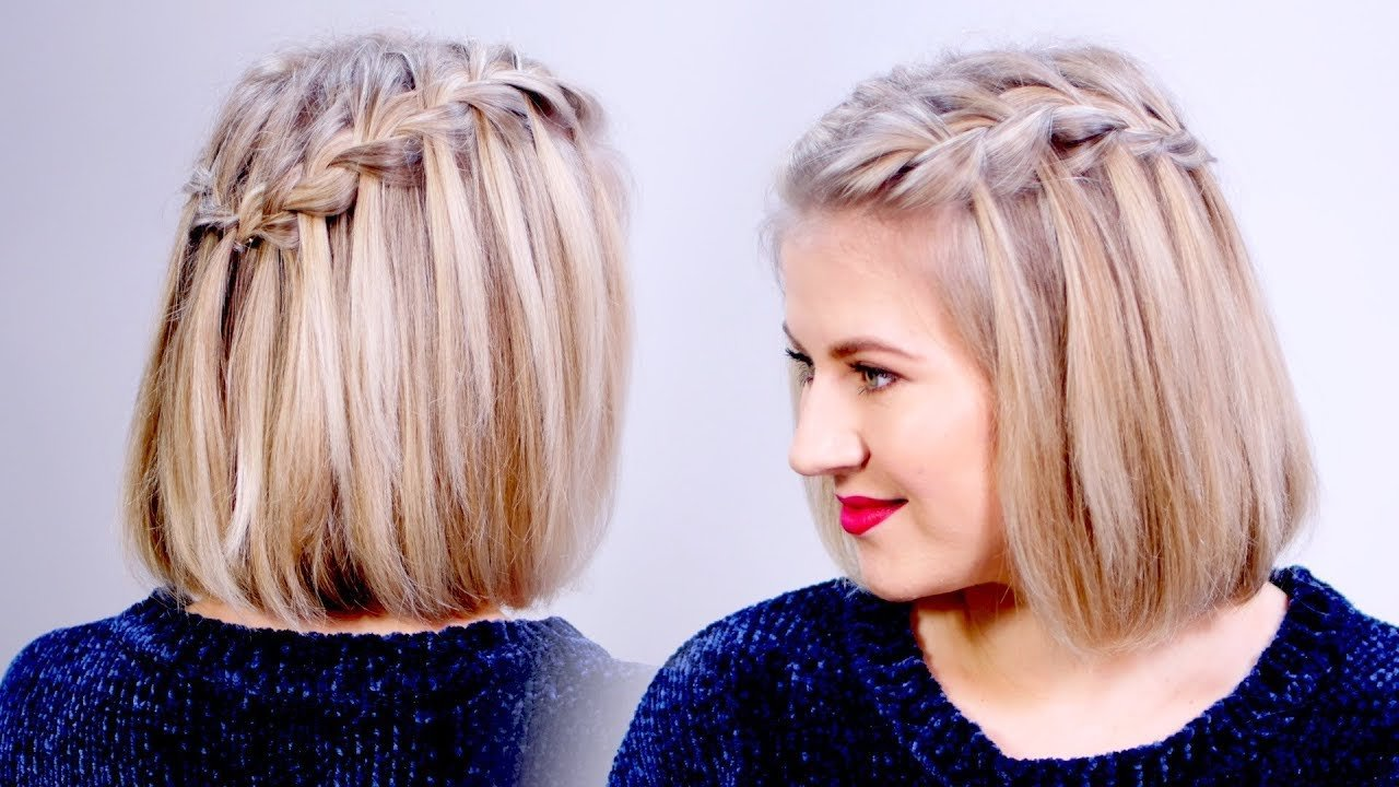 The Best How To Waterfall Braid Crown Hairstyle For Short Hair Pictures