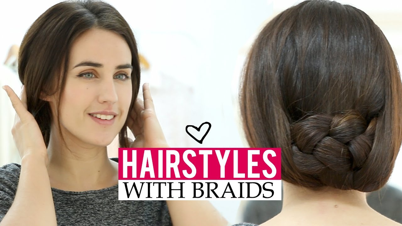 The Best Easy Hairstyles With Braids In 5 Minutes Youtube Pictures