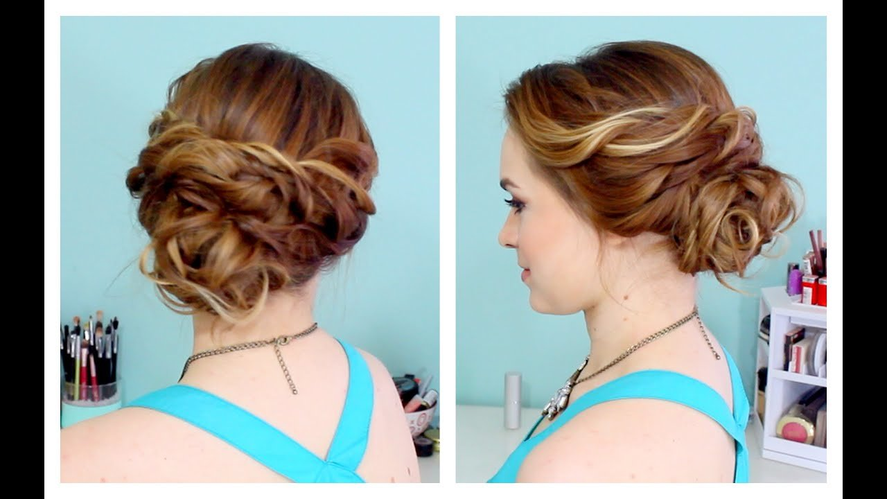 The Best Quick Side Updo For Prom Or Weddings D Youtube Pictures