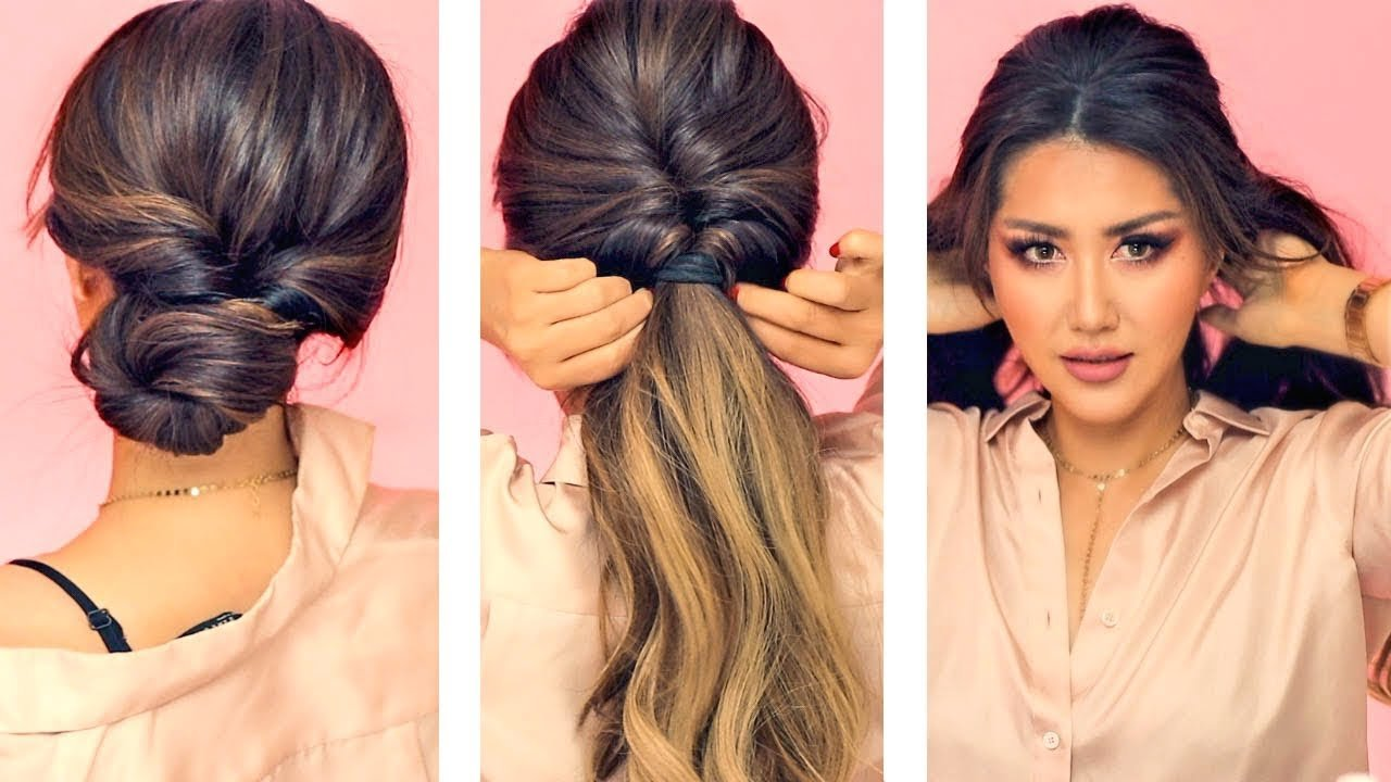The Best 1 Min Everyday Hairstyles For Work With Puff Easy Pictures