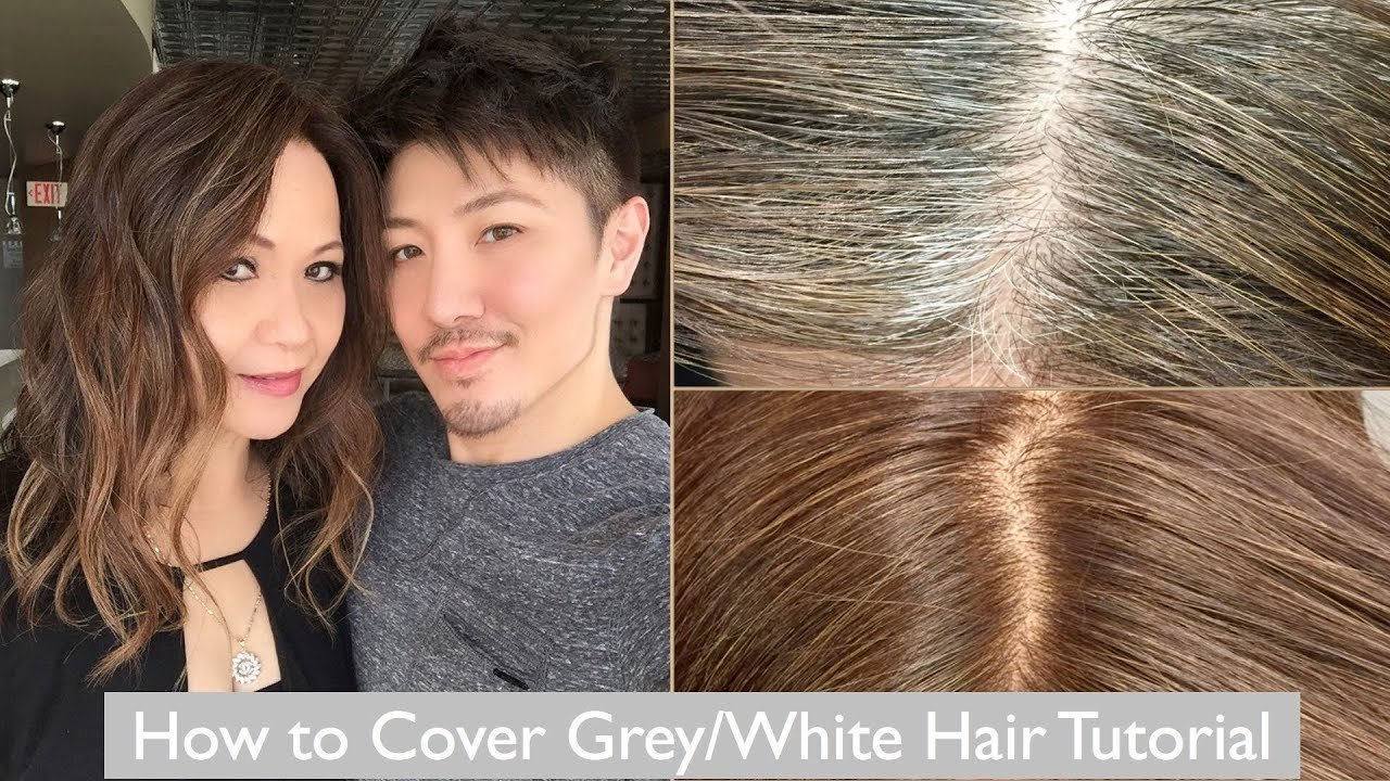 The Best How To Cover Grey White Hair Tutorial Youtube Pictures