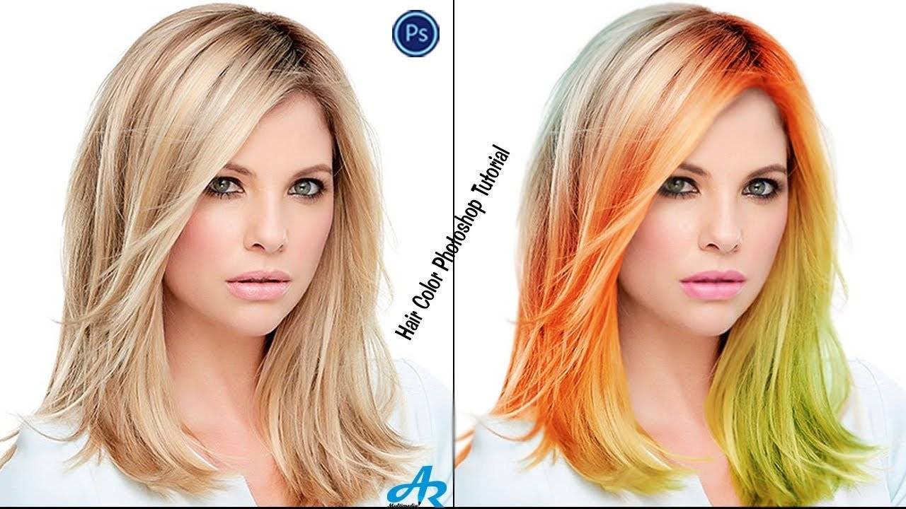 The Best How Change Hair Color In Photoshop Cc 2017 Photoshop Hair And Lip Color Different Hair Color In Pictures